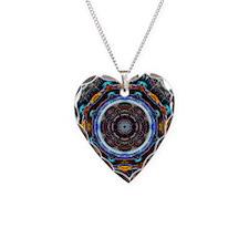 Reflective Fractal Mandala Necklace