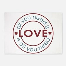 All You Need is Love 5'x7'Area Rug