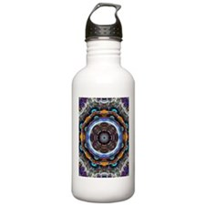 Reflective Fractal Mandala Water Bottle