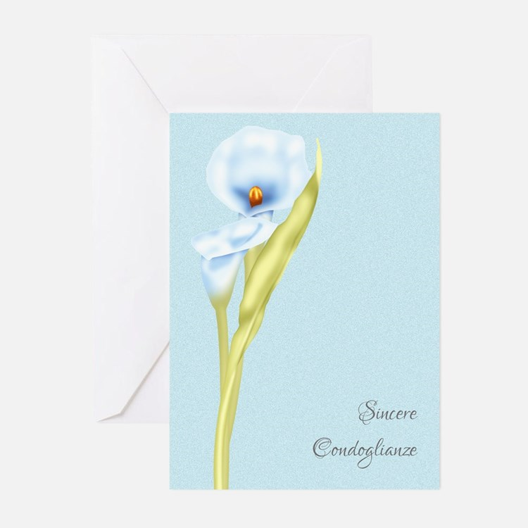 Sincere Condoglianze Sympathy Cards (Pk of 10)