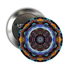 "Reflective Fractal Mandala 2.25"" Button (10 pack)"