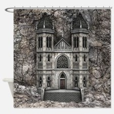 Castle Stone Wall Shower Curtain