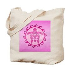 Maori Pink Turtle Tote Bag