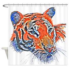 Orange Tiger Shower Curtain