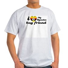 I love my Ugandan boy friend Ash Grey T-Shirt