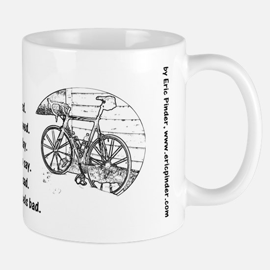 Humorous Bicycle Mug