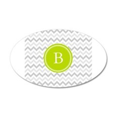 Green Grey Chevron Monogram Wall Sticker