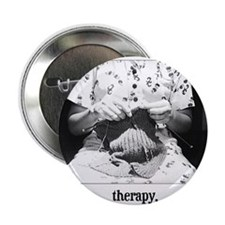 Knitting - Therapy Button