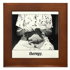 Knitting - Therapy Framed Tile