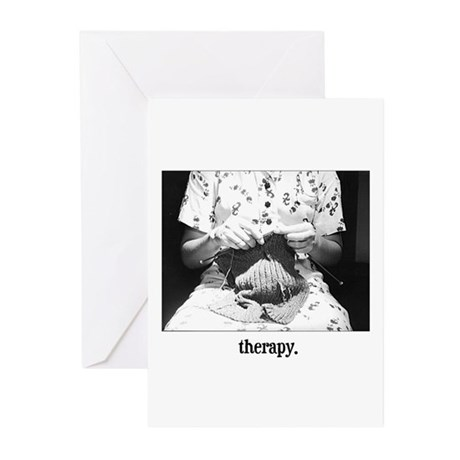 Knitting - Therapy Greeting Cards (Pk of 10)