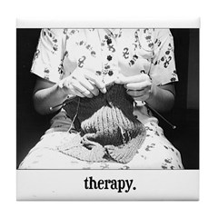 Knitting - Therapy Tile Coaster