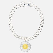 Yellow Gray Chevron Bracelet