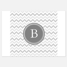 Shades of Grey Monogram Invitations