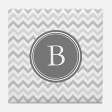 Shades of Grey Monogram Tile Coaster