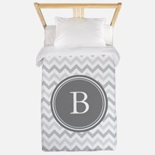 Shades of Grey Monogram Twin Duvet