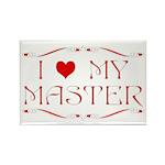 I Love My Master Rectangle Magnet (100 pack)