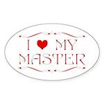'I Love My Master' Sticker (Oval )