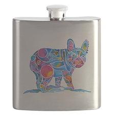 French Bulldog Love Flask
