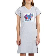 French Bulldog Love Women's Nightshirt