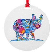 French Bulldog Love Ornament