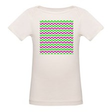 Pink and Green Chevron T-Shirt