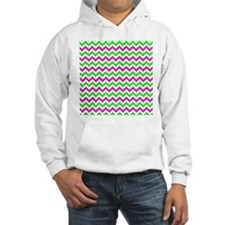 Pink and Green Chevron Jumper Hoody