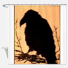 Raven, crow, bird art! Shower Curtain