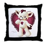 Lovey Cat Throw Pillow