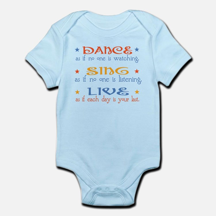 Dance Sing Live Infant Bodysuit