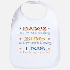 Dance Sing Live Bib