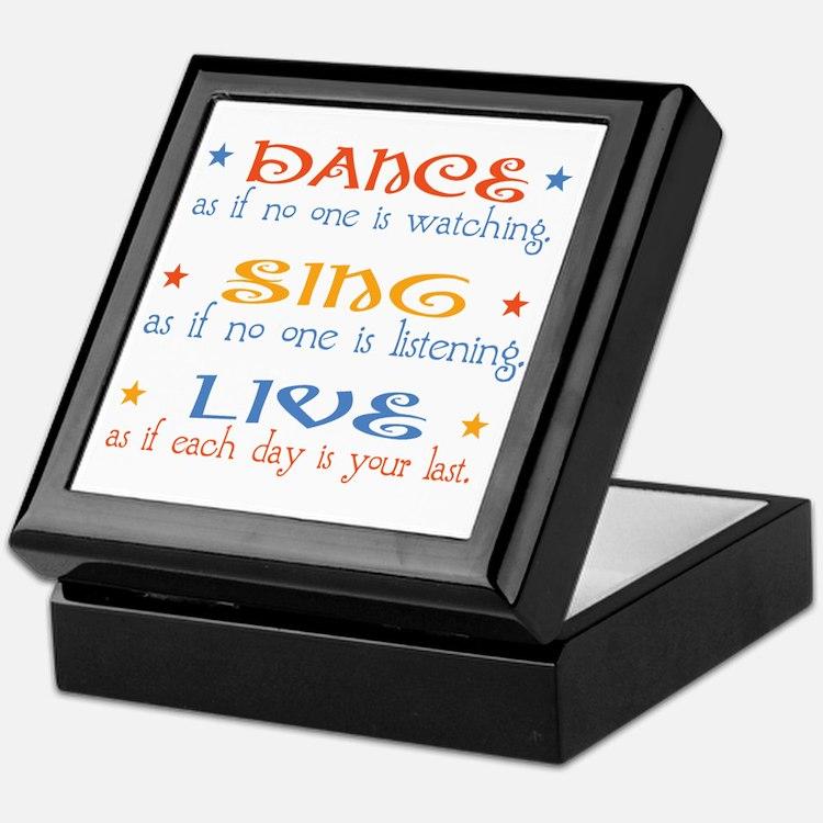 Dance Sing Live Keepsake Box
