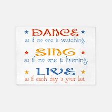 Dance Sing Live 5'x7'Area Rug