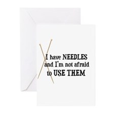 Knitting - I Have Needles Greeting Cards (Package
