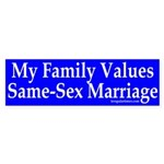 My Family Values Same-Sex Marriage