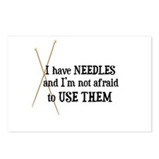 Knitting - I Have Needles Postcards (Package of 8)