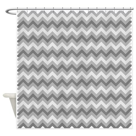 Dark Grey Chevron Shower Curtain By Admin CP49789583