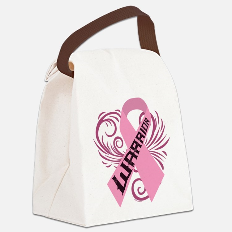Breast Cancer Warrior Canvas Lunch Bag