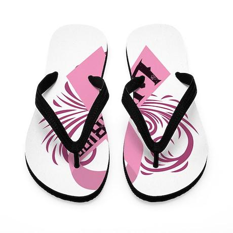 Breast Cancer Warrior Flip Flops