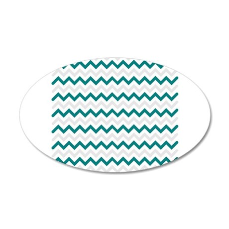 turquoise and grey chevron wall sticker by admin cp49789583
