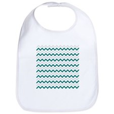Turquoise and Grey Chevron Bib