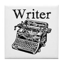 Writer-typewriter-1 Tile Coaster