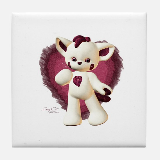 Lovey Cat Tile Coaster