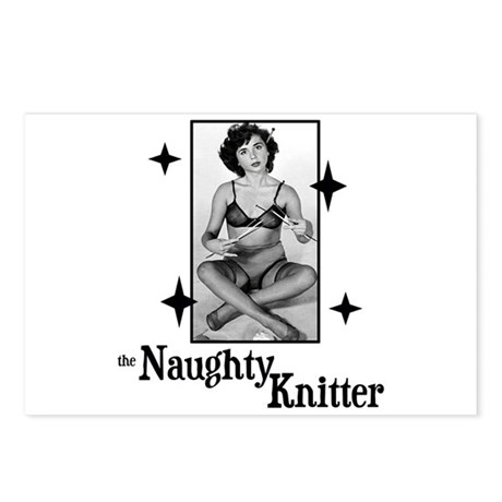 The Naughty Knitter Postcards (Package of 8)