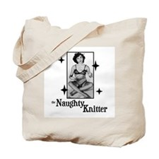 The Naughty Knitter Tote Bag
