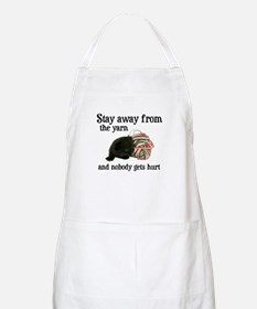 Stay Away From The Yarn BBQ Apron