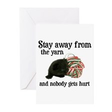 Stay Away From The Yarn Greeting Cards (Package of