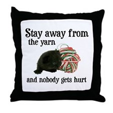 Stay Away From The Yarn Throw Pillow