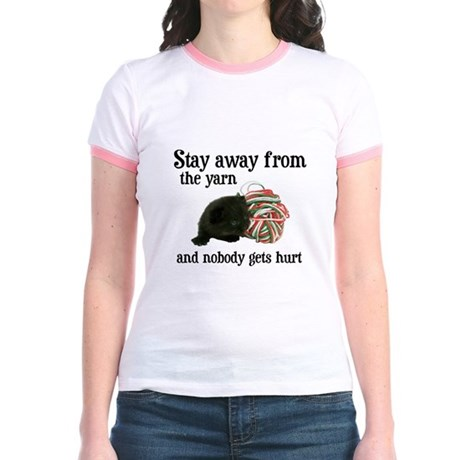 Stay Away From The Yarn Jr. Ringer T-Shirt