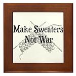 Make Sweaters Not War - Knit Framed Tile