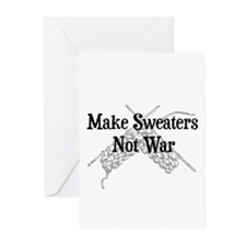 Make Sweaters Not War - Knit Greeting Cards (Pk of